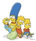 Marge, Maggie, Lisa & Bart