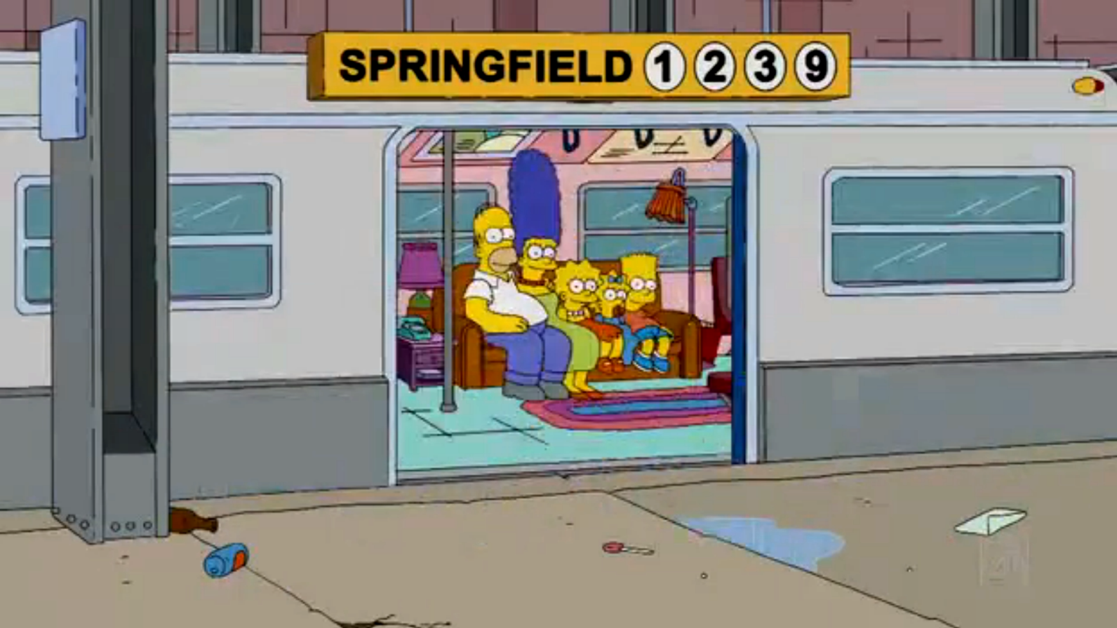 Springfield Subway Station couch gag