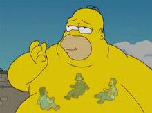 Homer monstro mendigos
