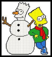 0864 BART SIMPSON WITH SNOWMAN-C2.jpg