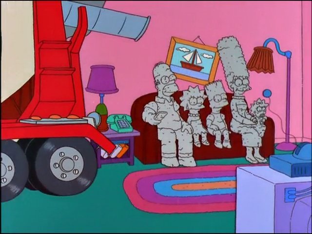 Cement Family couch gag