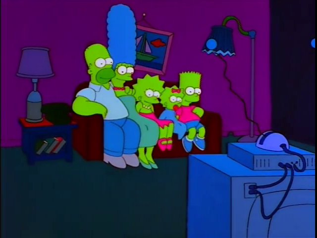 Glowing Family couch gag