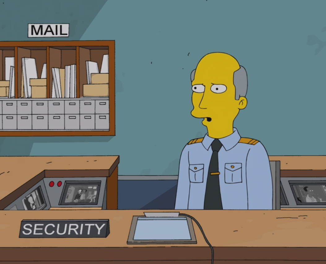Springfield Nuclear Power Plant Security Guard