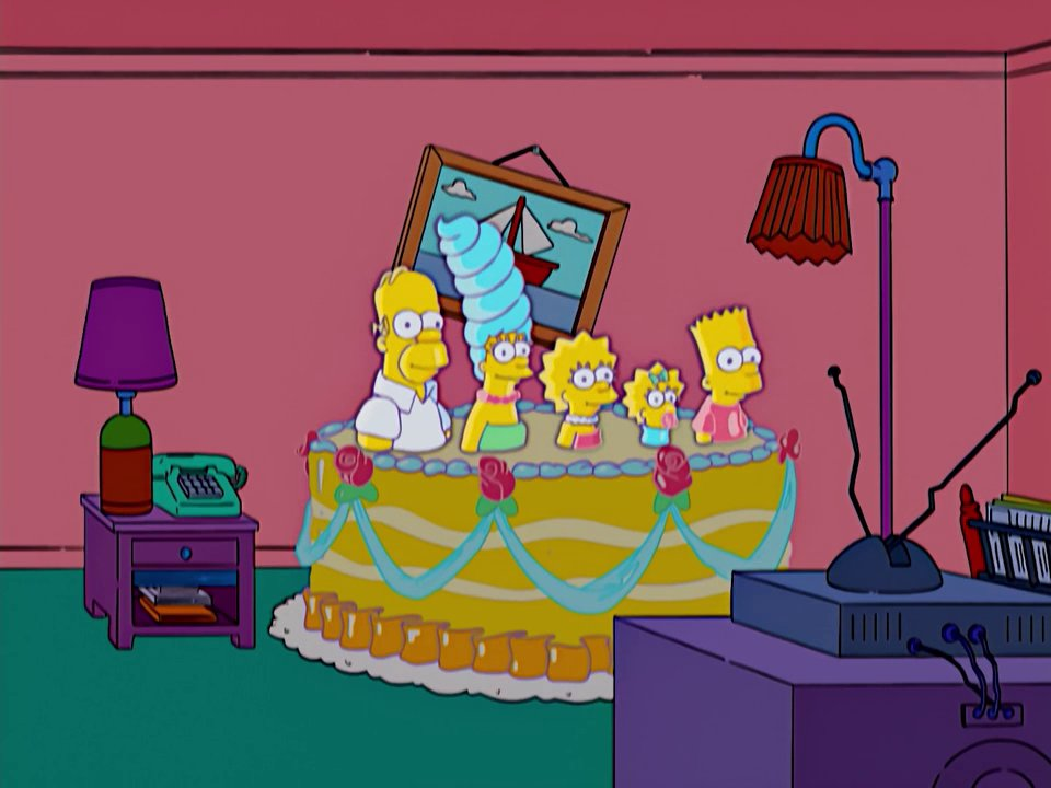 Cake couch gag