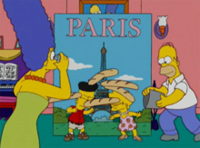 Simpsons foto paris fake