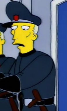 Itchy & Scratchy Land Guard 1
