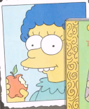 Young Marge with Apple