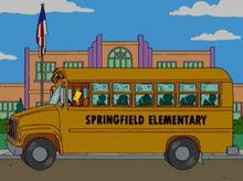 Bart dirigindo onibus escola