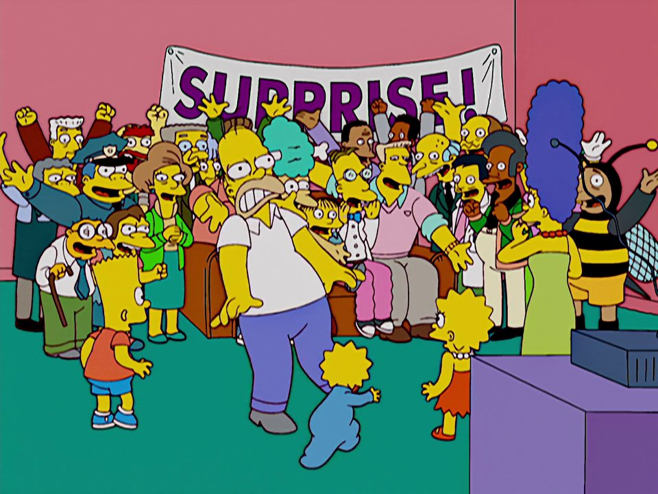 Surprise Party couch gag