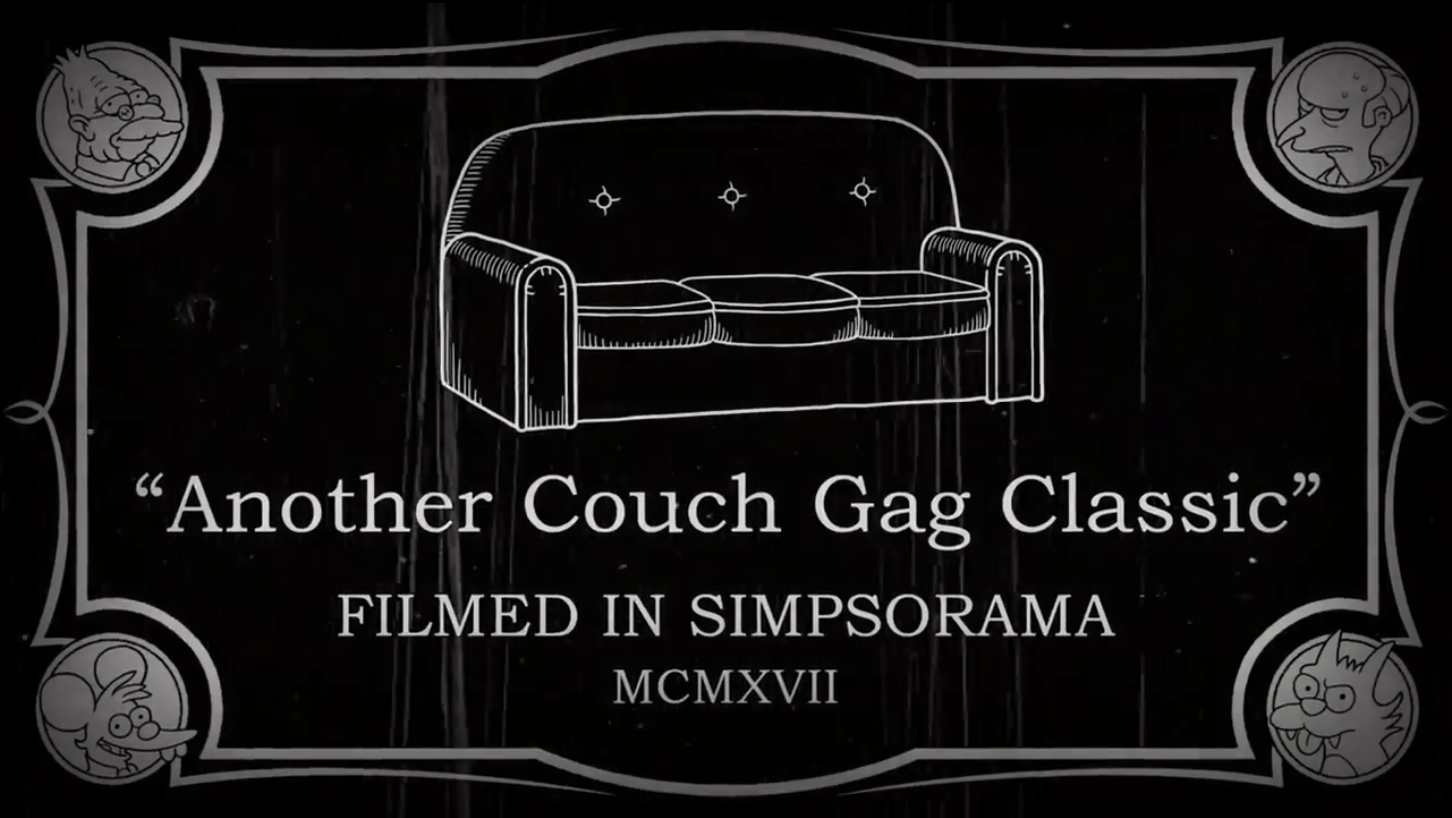 Another Couch Gag Classic couch gag