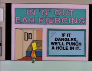 A Orelha de Piercing