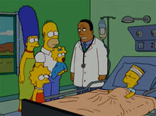 Simpsons hospital hibbert bart 18x18