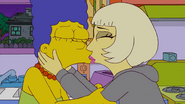 Lady Gaga Kisses Marge 3