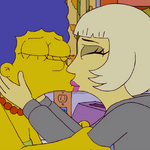Lady Gaga Kisses Marge 3.png