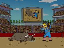 Vovô simpson toureiro touro 2