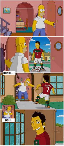 Cristiano Ronaldo visita os Simpsons em anuncio da Nike