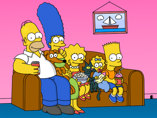 Cartoons The Simpsons on the couch 052202 .png