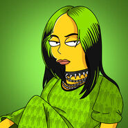 Tom-trager-billie-eilish-simpsons-green