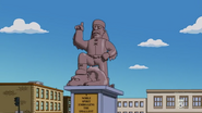 The Animals of Springfield - Statue of Jebediah Springfield
