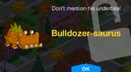 Bulldozer-saurus Unlock Screen