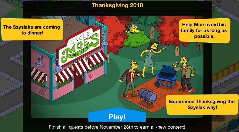 Thanksgiving 2018 Event