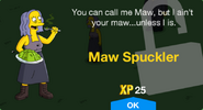 Maw Spuckler Unlock Screen