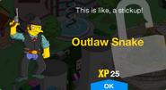 Outlaw Snake Unlock Screen