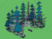 Springfield Cursed Forest in the game