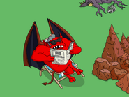 The Devil Enjoying a Breath of Fresh Air - newspaper