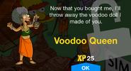 Voodoo Queen unlock screen