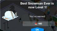 Best Snowman Ever Level 1 Upgrade Screen