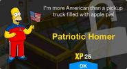 Patriotic Homer Unlock Screen