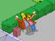 Larry and Sam Sharing a Drink