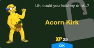 Acorn Kirk Unlock Screen