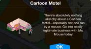 Cartoon Motel notification