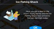 Ice Fishing Shack notification