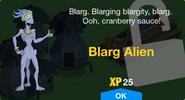 Blarg Alien Unlock Screen