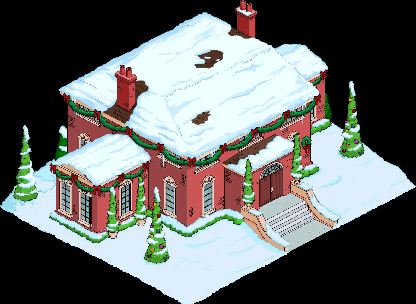 Festive Wolfcastle Mansion