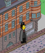 Jack the Ripper Stalking Prey in front of the Scotland Yard