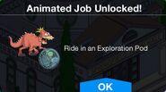 Ride in an Exploration Pod Animated Job Unlocked