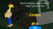 Cletus Unlock Screen