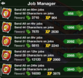 Job Manager Screen