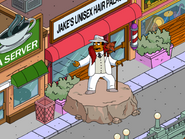 Mad Dr. Hibbert Addressing the Crowd