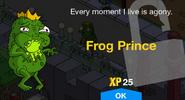 Frog Prince unlock screen