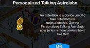 Personalized Talking Astrolabe notification