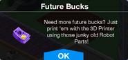 Future Buck Conversion Pack unlock message