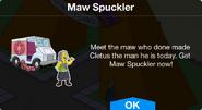 Maw Spuckler notification