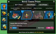Casino Event Act 1 Prizes Screen
