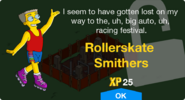 Rollerskate Smithers Unlock Screen