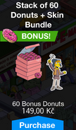 Stack of 60 Donuts & Skin Bundle with Squeeky Voice Peasant
